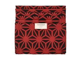 Place Mat Black & Red