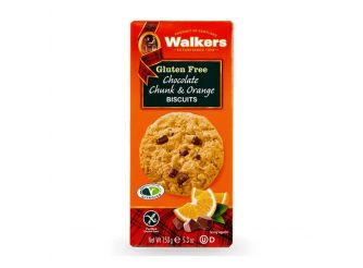 Walkers Gluten Free Chocolate Chunk & Orange Biscuits
