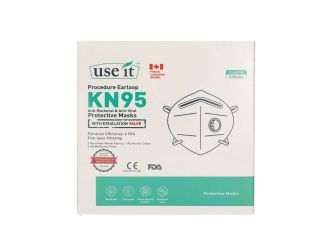 Use It Face Mask With Valve KN95 5s 1+1