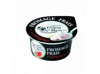 Isigny Ste-Mère Fromage Frais (Light Cream Cheese) with Strawberries