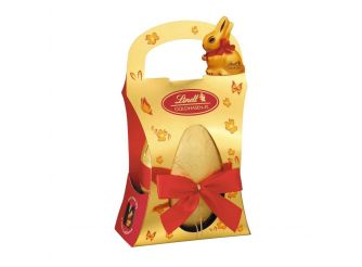 Lindt Egg Shell with Golden Bunny