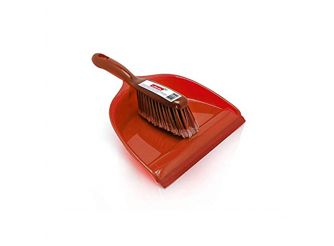 Vileda Dustpan & Broom Red
