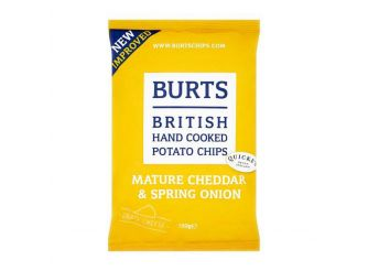 Burts Hand Cooked Potato Chips Mature Cheddar Spring Onion