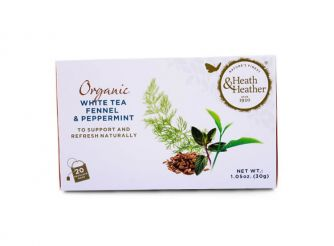 Heath & Heather Organic Fennel & Peppermint White Tea