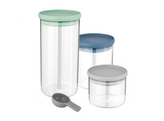BergHOFF 3-pc set glass food containers