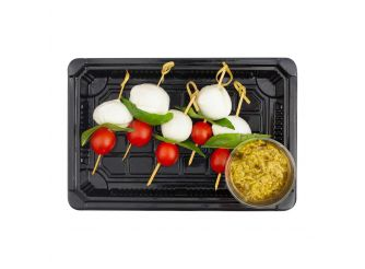 Gourmet Buffalo Mozzarella, Cherry Tomatoes & Fresh Basil Tray