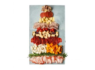 Gourmet Christmas Cheese & Cold Cuts Platter Assortment 2 - Medium