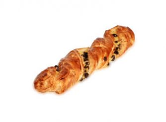Chocolate Twist with Chocolate Chips and Custard Cream