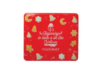 Gourmet Red Christmas Tin (Christmas Cookies)