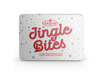 Gourmet Jingle Bites (White Cookie Tins)