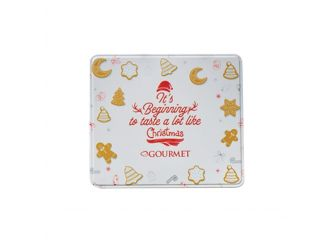 Gourmet White Christmas Tin (Speculoos Cookies)