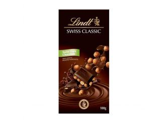 Lindt Swiss Classic Dark Chocolate with Hazelnuts