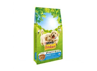 Purina Friskies Junior Dog Food with Chicken, Vegetables & Milk