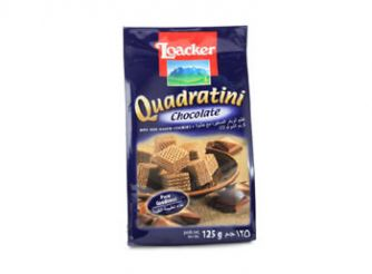 Loacker Quadratini Chocolate Wafer Cubes