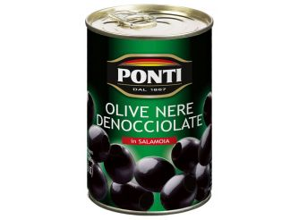 Ponti Pitted Black Olives