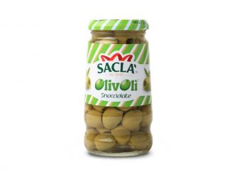 Sacla Pitted Green Olives