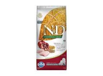 N&D Dry Dog Food, Puppy Medium and Maxi Breed, 12-kg, Chicken and Pomegranate