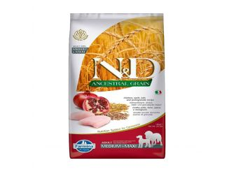 N&D Dry Dog Food, Adult Medium & Maxi Breed, 12-kg, Chicken and Pomegranate