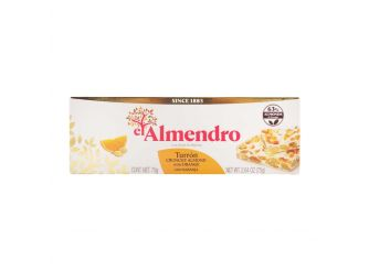 ElAlmendro Turron with Oranges (Almond & Orange Nougat)