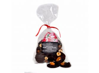 Gourmet Belgian Dark Chocolate Coins with Dried Fruits & Nuts