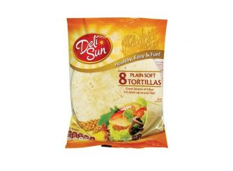 Deli Sun Plain Soft Tortilla Wraps