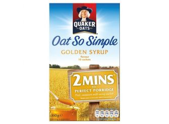 Quaker Oat So Simple Golden Syrup Porridge Sachets
