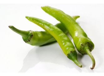 Organic Hot Green Peppers, Sara
