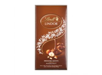 Lindt Lindor Hazelnut & Milk Chocolate Bar