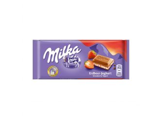 Milka Chocolate with Strawberry Yogurt
