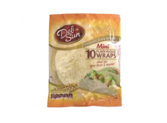 Deli Sun Mini Plain Flour Wraps