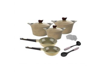 Neoflam Cookware Warm Marble11 Pcs