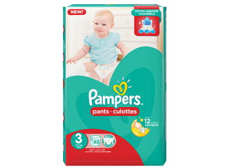 Pampers Pants Diaper Size 3 - 62 PC
