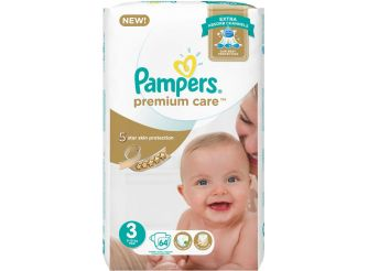 Pampers Premium Care Extra Absorb Size 3 - 64 Pieces