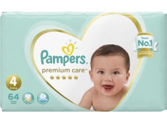 Pampers Premium Care Extra Absorb Size 4 - 64 Pieces
