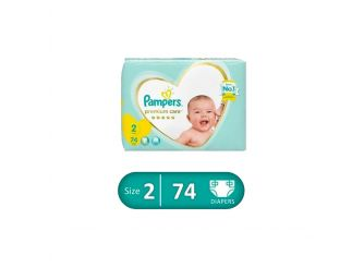 Pampers Premium Care Diapers 74 pieces