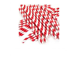Paper Straws (Pack of100) Red & White