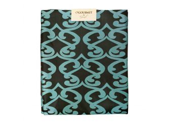 Tablecloth Black & Turquoise Small