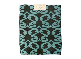 Tablecloth Black & Turquoise Large