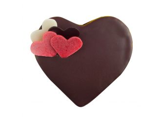 Gourmet Heart-Shaped Chocolate Mini Cake